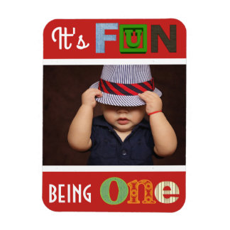 """It's Fun Being One"" Photo Magnet"
