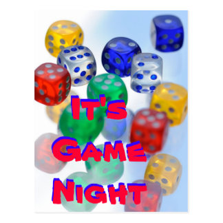 It's Game Night Postcard