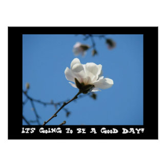It's going to be a Good Day! art Blue Sky Magnolia Poster