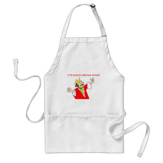 It's good being king adult apron
