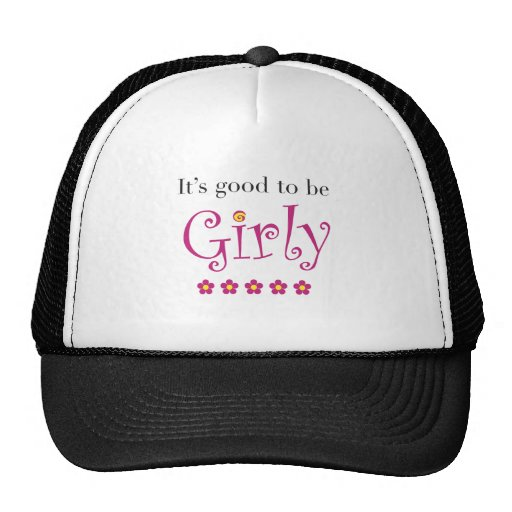 It's good to be girly mesh hats