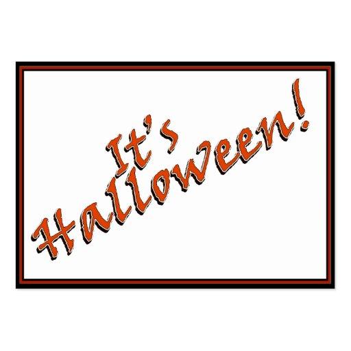 It's Halloween Viner Text Design Business Card