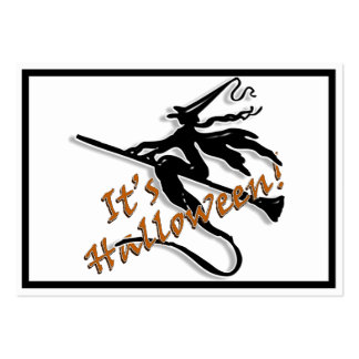 It's Halloween Witchy Silhouette Business Cards