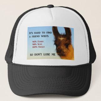 It's hard to find a friend trucker hat