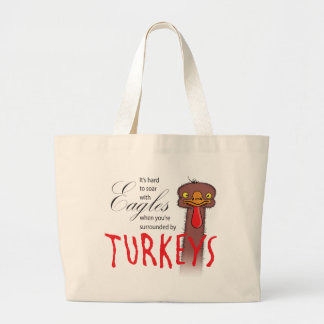 It's Hard To Soar With Eagles... Jumbo Tote Bag