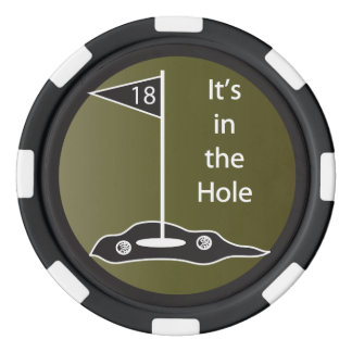 It's In The Hole Golf Poker Chips
