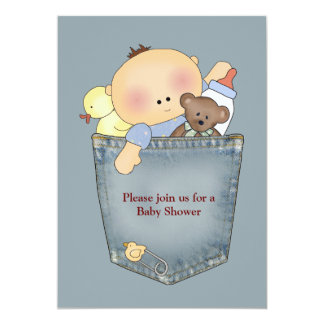 It's in the Pocket Baby Shower Invitation