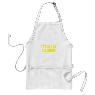 Its In the Syllabus Standard Apron