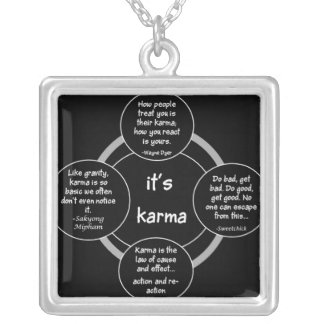 It's Karma Sterling Silver Plate Necklace