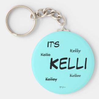 It's Kelli Keychain (blue)