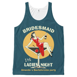It's ladies night All-Over-Print tank top