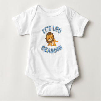 Its Leo Season! Baby Bodysuit (Blue)