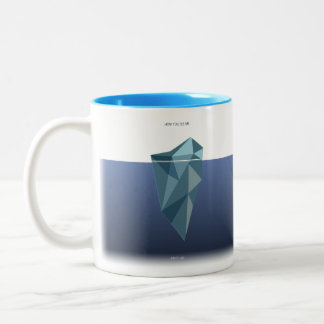 ITS & LIGHT - an iceberg Two-Tone Coffee Mug