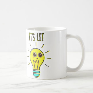 It's Lit cute funny party geeky lightbulb Coffee Mug