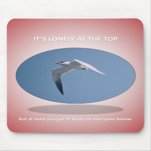 its-lonely-at-the-top-but-at-least-you-get-to-poop mouse pads