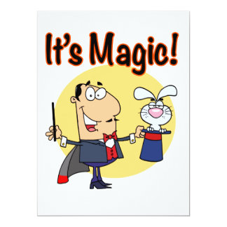 "its magic silly magician 6.5"" x 8.75"" invitation card"