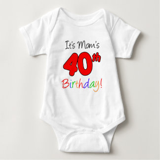 It's Mom's 40th Birthday Baby Bodysuit