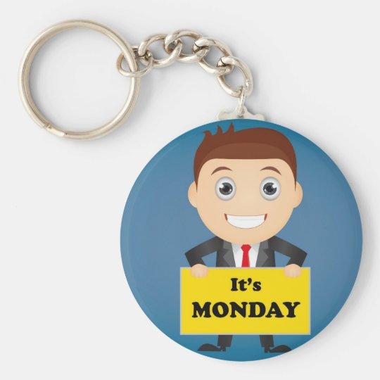 Its Monday Basic Round Button Keychain