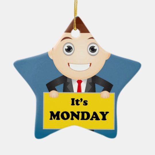 Its Monday Ceramic Star Ornament
