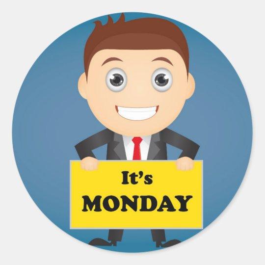 Its Monday Classic Round Sticker
