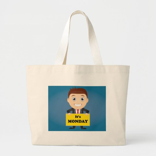 Its Monday Large Tote Bag