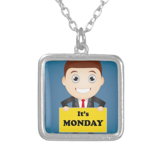Its Monday Silver Plated Necklace