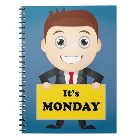Its Monday Spiral Notebook