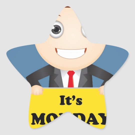 Its Monday Star Sticker