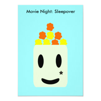 It's Movie Night All Night: Sleepover Card