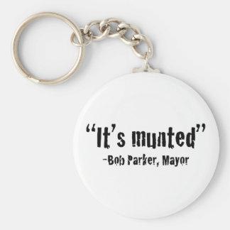 It's munted basic round button keychain
