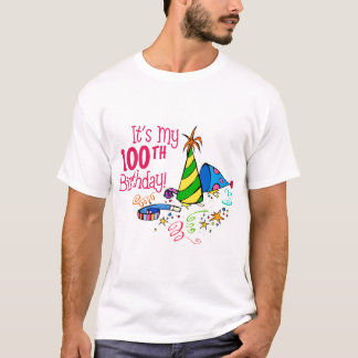 It's My 100th Birthday (Party Hats) T-Shirt
