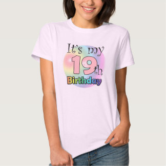 It's my 19th Birthday (pink) Tshirt