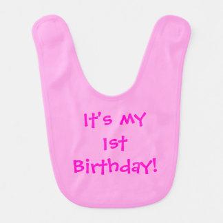 It's My 1st Birthday! Customizable Bib