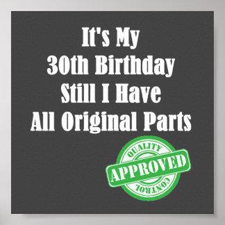 It's My 30th Birthday Poster