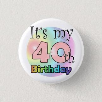 It's my 40th Birthday (wink) 1 Inch Round Button