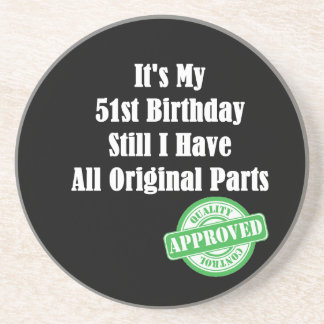 It's My 51st Birthday Drink Coaster