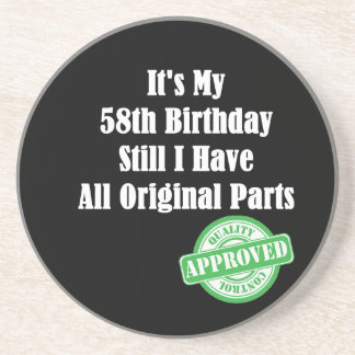 It's My 58th Birthday Coaster