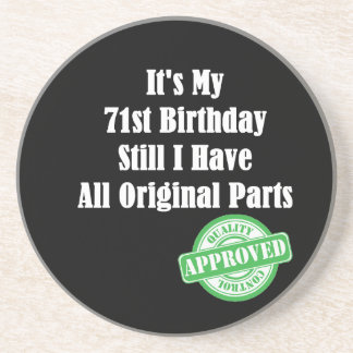 It's My 71st Birthday Coasters