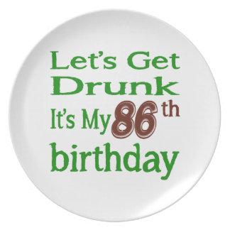 It's My 86th Birthday Plates