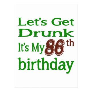 It's My 86th Birthday Postcard