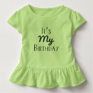 It's My Birthday Toddler Ruffle tee