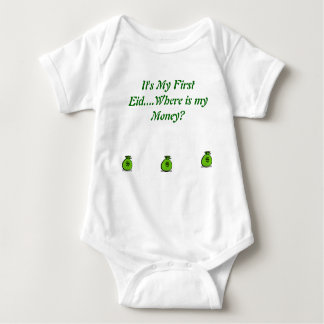 It's My First Eid for 6Months olds Baby Bodysuit