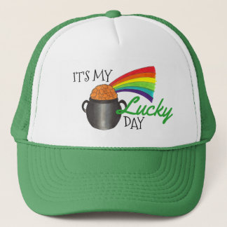 It's My Lucky Day St. Patrick's Day Rainbow Hat