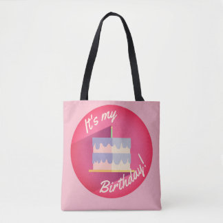 It's My Pink Birthday Cake Bag by Aleta
