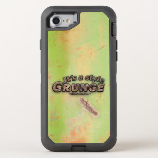 It's My Style GRUNGE Rusty Letters OtterBox Defender iPhone 7 Case