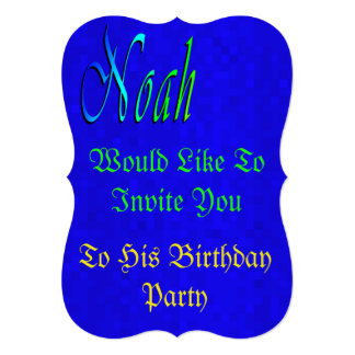 Its Noah' Birthday, Birthday Party Invitation. Card