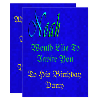 Its Noah' Birthday, Personalize This Invitation. Card