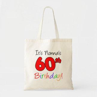 It's Nonna's 60th Birthday Fun and Colorful Tote
