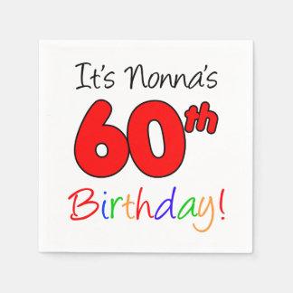 It's Nonna's 60th Birthday Fun Napkins