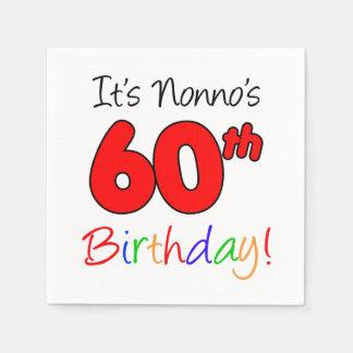 It's Nonno's 60th Birthday Fun Napkins